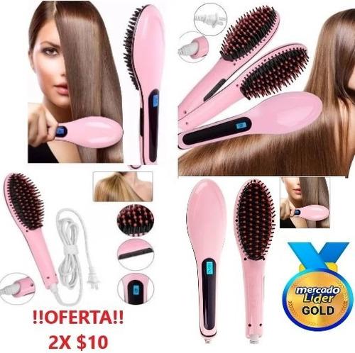 Imagen 1 de 5 de Plancha De Cabello Cepillo Alizador Electrico Pantalla Lcd