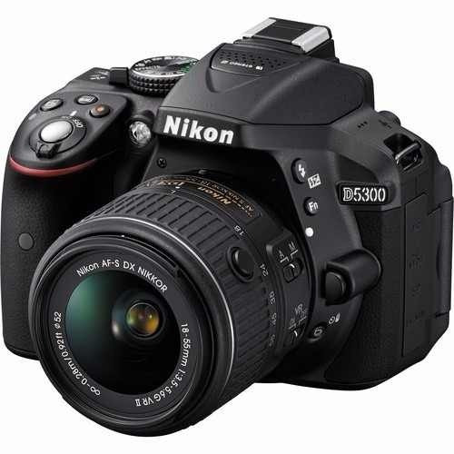 Câmera Nikon D5300+18-55+64gbc/10+bolsa+tripe,p/ Entrega