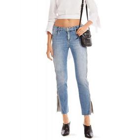 edd6687ec Calca Jeans Com Ziper Detalhes - Calças Jeans Feminino no Mercado ...