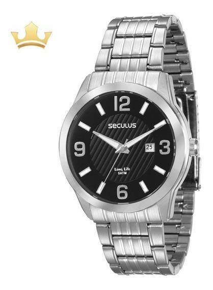 Relógio Seculus Masculino 28837g0svna1 Com Nf