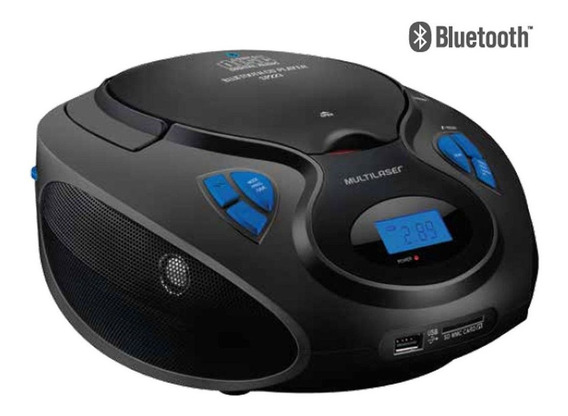 Radio Com Bluetooth 20w Rms Cd/usb/sd/fm/aux Preto Sp223