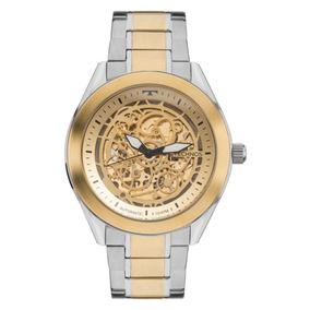 Relógio Masculino Technos Automático 8n24aj/4x Prata/dourado