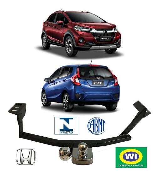 Engate Reboque Honda Fit E Wr-v Wi Engates 500 Kg