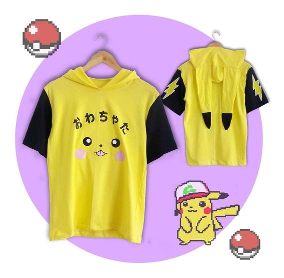 Remera Pikachu Harajuku Kawaii Anime Pokemon