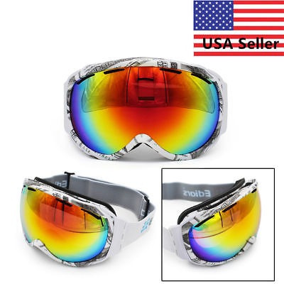 Doble Lente Gafas De Esquí Ski Snowboard Anti Uv Marco Prote