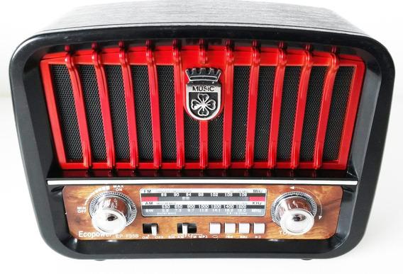 Rádio Ecopower Epf95b Am/fm+usb+bluetooth+sd Bivolt+brindes