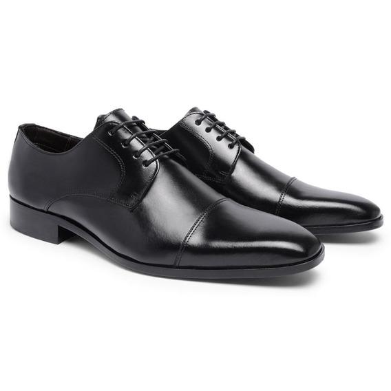 Sapato Social Masculino Inglês Couro T10005 - Frete Grátis