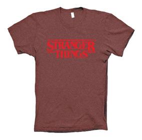 Stranger Things Playera Vintage Distressed Logo Tv Show