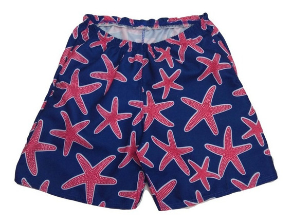Short Playero Estampado Para Niños / Adolescentes
