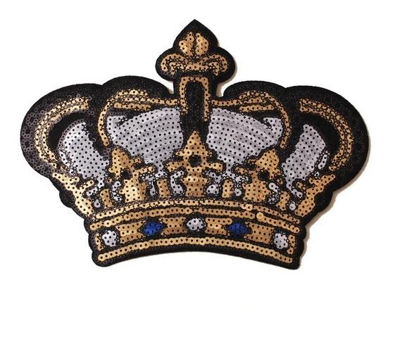 Parche Para Ropa Aplicación Lentejuela Corona Trendy Fashion