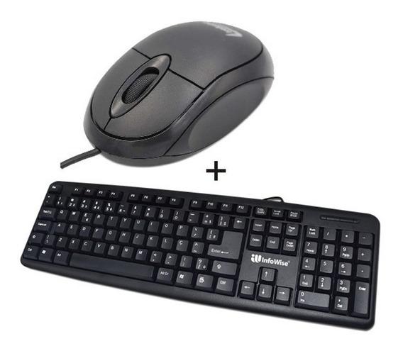 Kit 10 Teclado + 10 Mouse Usb (atacado - Revenda)