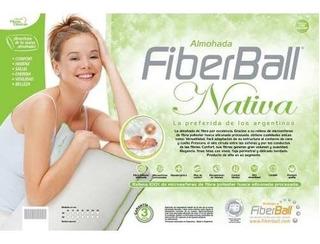 Almohada Fiberball Nativa 100% Siliconada Percal X 10 G&d