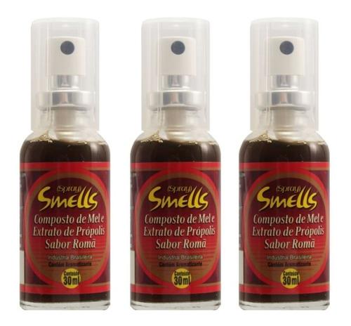 Imagem 1 de 1 de Smells Própolis Romã Spray 30ml (kit C/03)