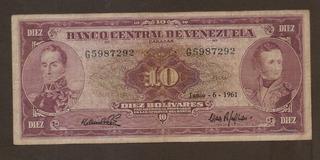 10 Bolívares 1961 G7
