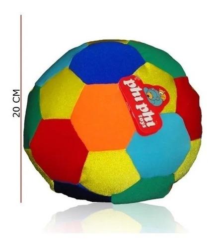 Imagen 1 de 1 de Pelota Multicolor 20cm Phi Phi Toys