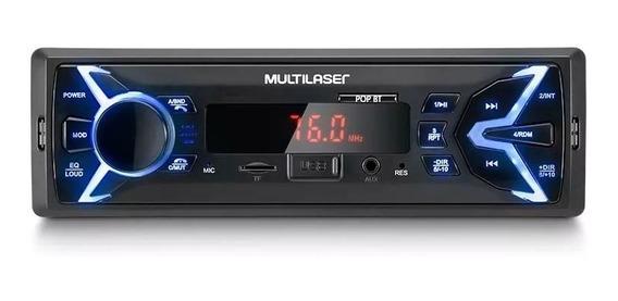 Auto Radio Multilaser Pop Bt Usb Sd Bluetooth Fm