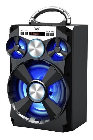 Caixa De Som Altomex A-80 Preta Bluetooth Am Fm Pendrive