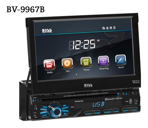 Stereo Pantalla 7 Dvd Usb Bt Boss Bv9967b Tactil - Fte Desm