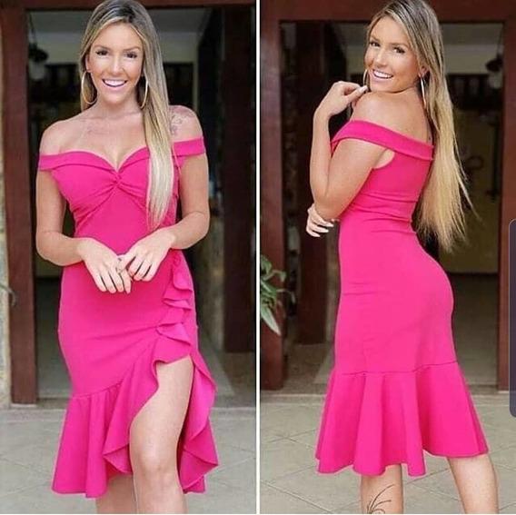 Vestido Midi Feminino Tomara Que Caia Elegante Lançamento