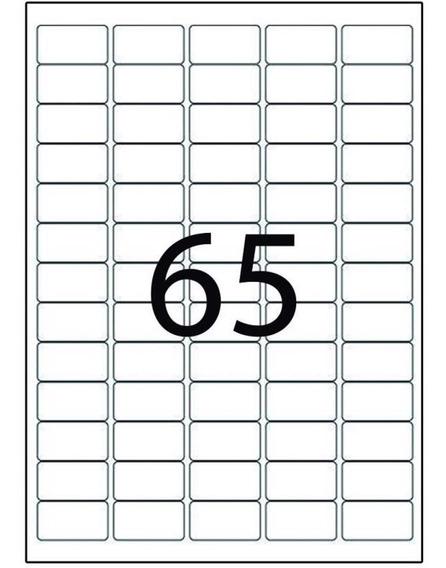 Etiqueta A4351 21,2x38,2 Mm 100 Fls 65 Etiquetas - Maxprint