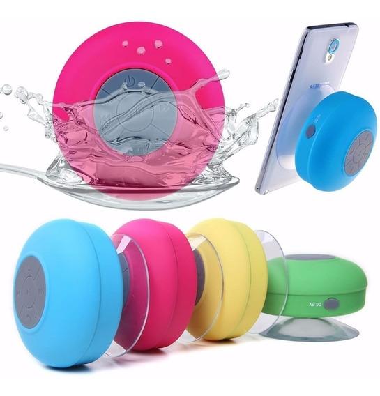Mini Caixinha Som Bluetooth Portátil Prova De Água Ventosa
