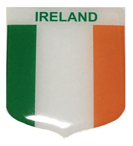 Adesivo Resinado Em Escudo Da Bandeira Da Irlanda