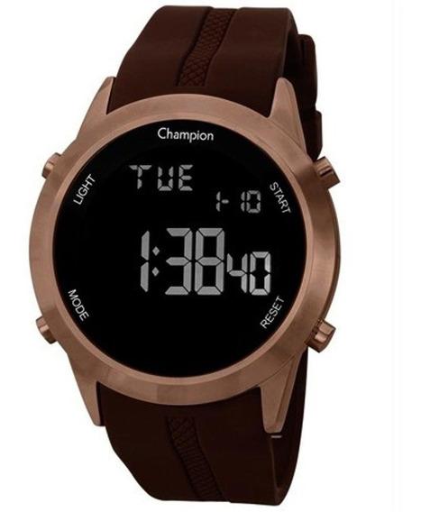 Relógio Unissex Champion Digital Ch40259r - Marrom