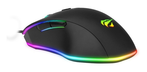 Mouse Gamer Rgb Com Macro Programável 7000dpi - Havit Ms837