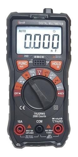 Tester Multimetro Gralf Premium Gmf-39d Compacto Autorrango