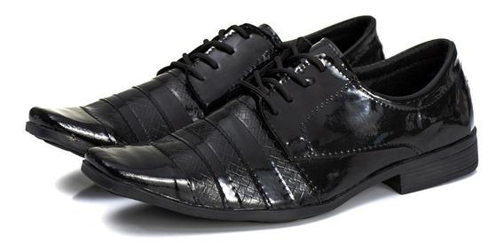 Sapato Social Masculino Casual Modelo Italiano Verniz Barato
