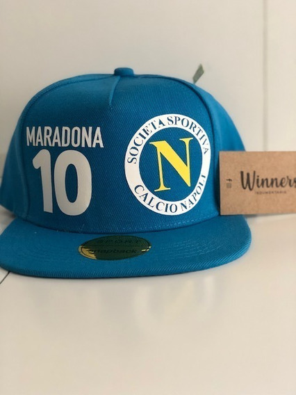 Gorra Plana Snapback Maradona #10 Napoli