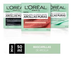Pack 3x Mascarillas De Arcilla L