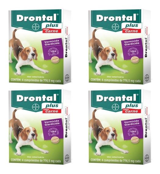Drontal Plus Carne 10kg 4 Comprimidos- 4 Uni