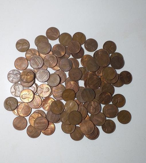 Lote De 100 Monedas De 1 Centavo De Dolar