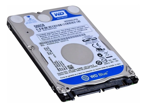 Hd Western Digital 500 Gb Para Notebooks Ou Externo