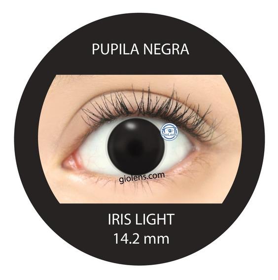 Pupilentes Lente De Contacto Pupila Negra Protesis Ocular