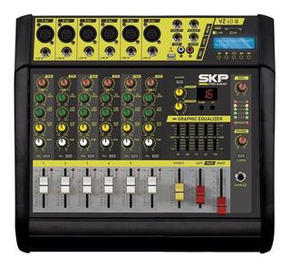Consola Potenciada Mixer Skp Vz-60 Ii 6ch 200+200 Rms Eq Usb