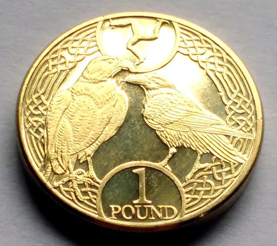 Moneda De Isla De Man, 1 Pound 2017. Sin Circular.