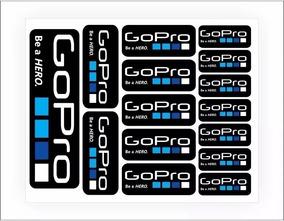 Kit Cartela De Adesivos Gopro Go Pro Hero Frete Gratis