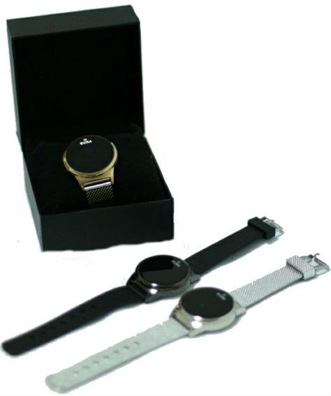 Relógio Pulseira Dourada Para Mulher + Caixinha Grátis Linda