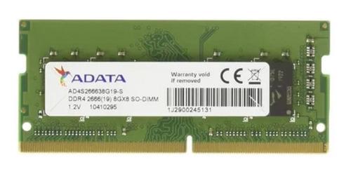 Imagem 1 de 2 de Memoria Adata Notebook 8gb Ddr-4 2666mhz Am1p26kc8t1