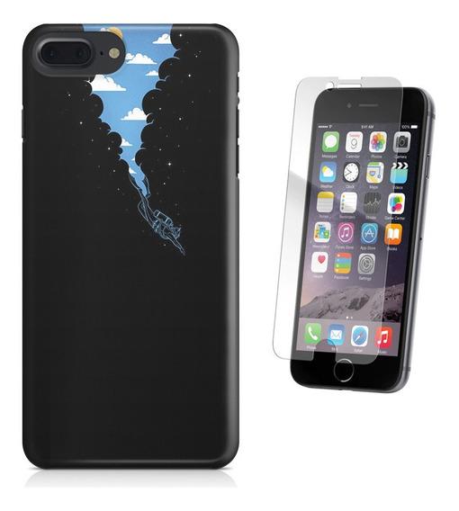 Kit Capa iPhone 7 Plus - Mergulho E Pelicula