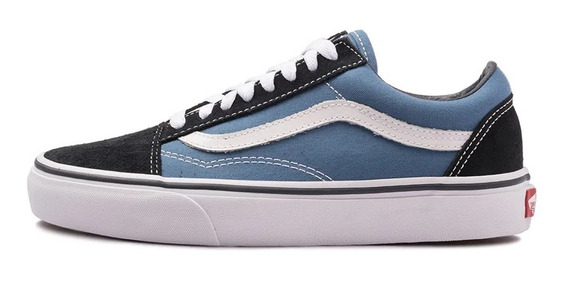 Tenis Vans Old Skool Azul Original Com Nota Fiscal