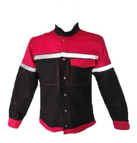 Camisa De Mezclilla Rojas Para Soldador,pailero O Tubero