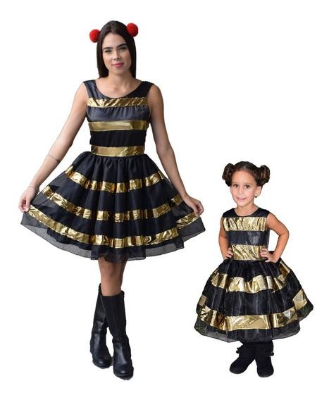Vestido Da Boneca Lol Mãe E Filha 2 Vestidos