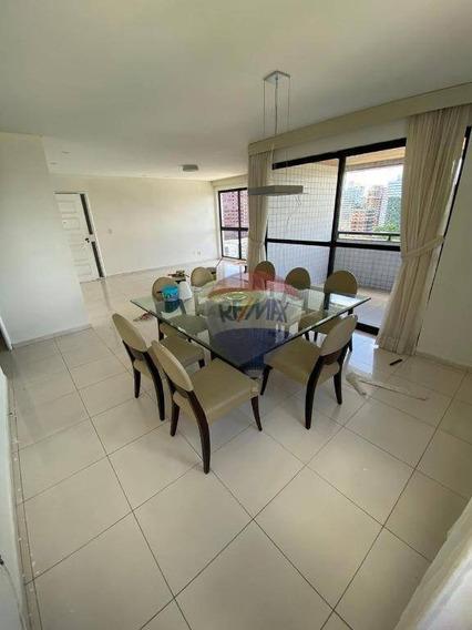 Apartamento Com 4 Dormitórios Para Alugar, 160 M² Por R$ 4.600,00/mês - Jaqueira - Recife/pe - Ap1485