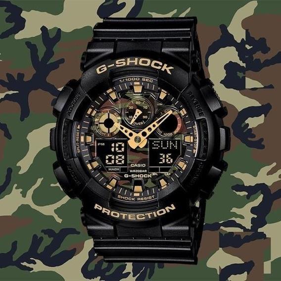 Relógio G-shock - Mod - Ga-100cf-1a9 - 5081 Caixa Camuflada