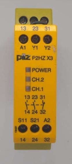 Relé De Segurança Pilz P2hz X3 24vdc 2no+1nc