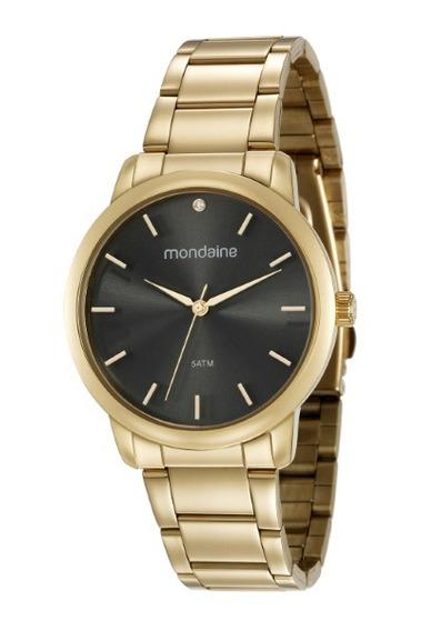Relógio Mondaine Feminino Dourado Kit 36026