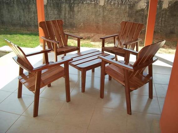 Jogo De Cadeiras Para Aria E Jardins
